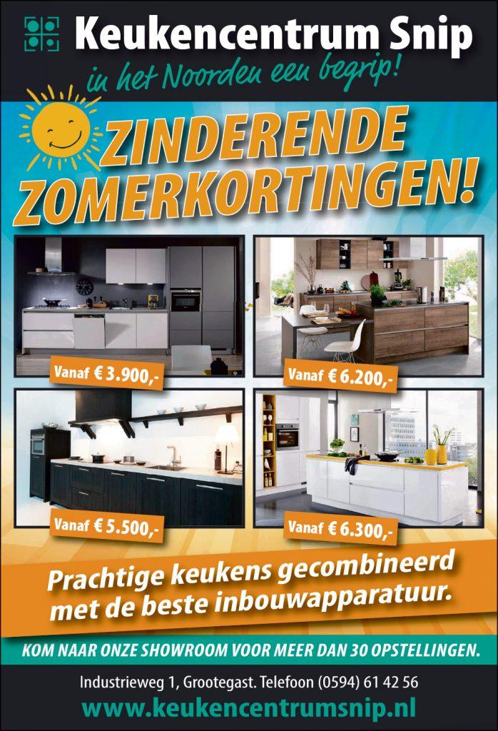 Advertentie Keukencentrum Snip juli 2020